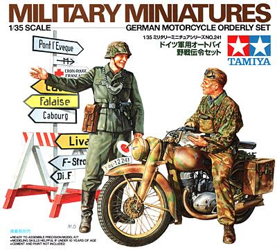 ドイツ軍用オートバイ 野戦伝令セットプラモデル(タミヤ1/35 ミリタリーミニチュアシリーズNo.241)商品画像