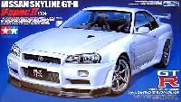 タミヤ1/24 スポーツカーシリーズニッサン スカイライン GT-R Vスペック 2 (R34)