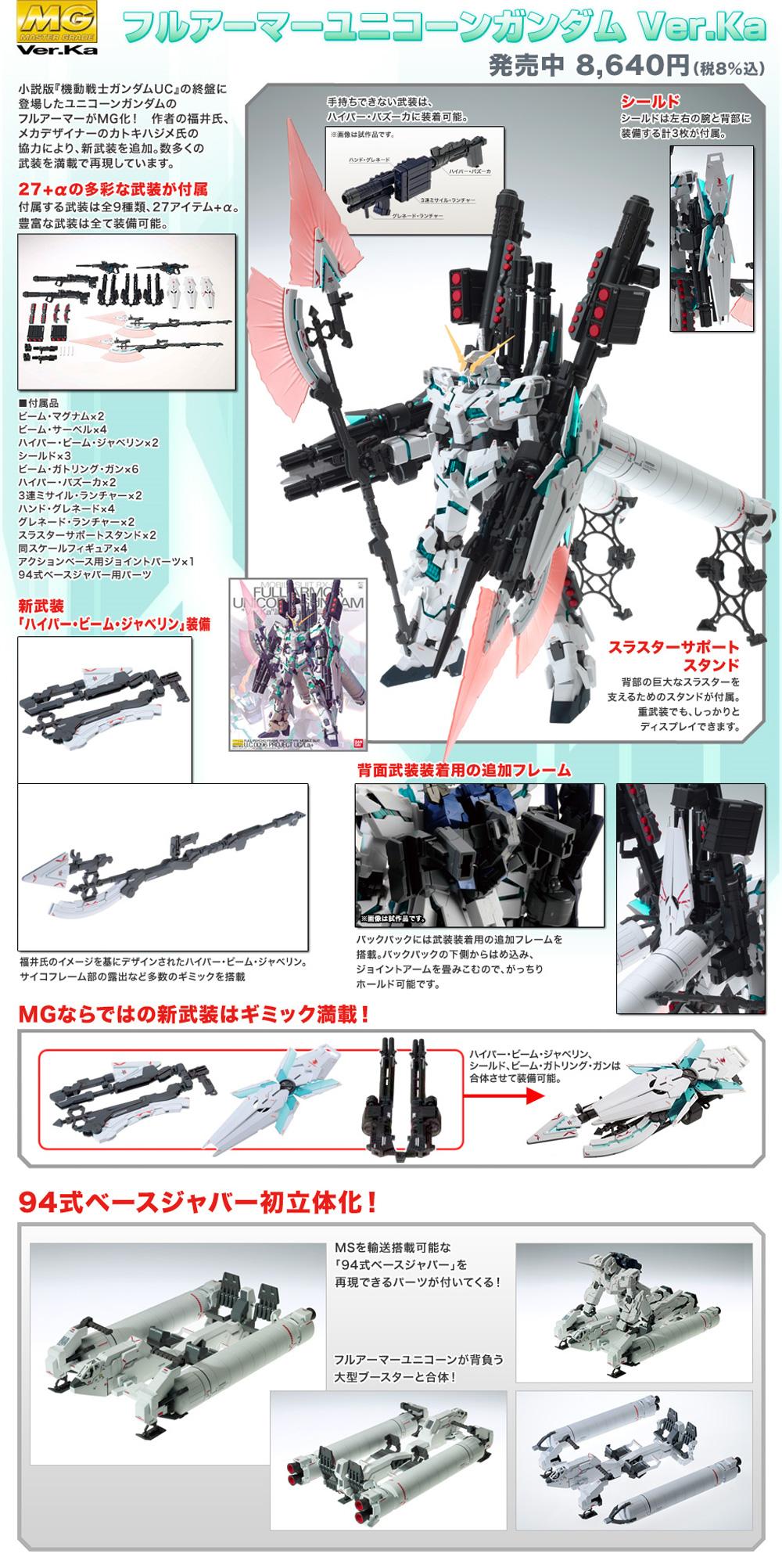 RX-0 フルアーマーユニコーンガンダム Ver.Kaプラモデル(バンダイMASTER GRADE (マスターグレード)No.0172818)商品画像_4