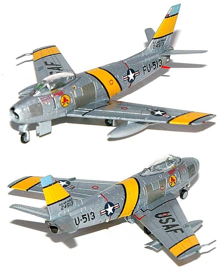F-86F-30 セイバー アメリカ空軍 第41戦闘迎撃航空団 第334戦闘迎撃飛行隊完成品(ホーガンウイングスM-SERIESNo.7419)商品画像_1