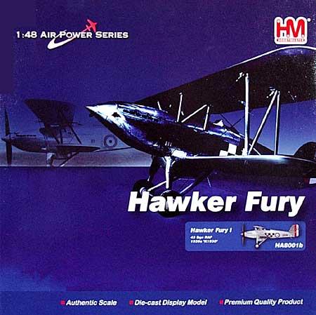 ホーカー フューリー Mk.1 ファイティングコックス完成品(ホビーマスター1/48 エアパワー シリーズ (レシプロ)No.HA8001B)商品画像