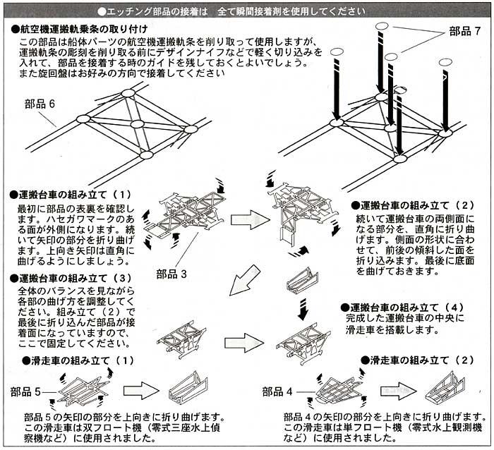 重巡 妙高級 航空機運搬軌条エッチング(ハセガワウォーターライン ディテールアップパーツNo.3S-061)商品画像_2