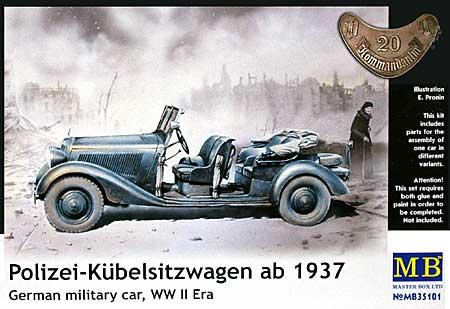 ドイツ 4輪乗用車 170V オープン座席タイプ 1936 (Polizei-Kubelsitzwagen ab 1937)プラモデル(マスターボックス1/35 ミリタリーミニチュアNo.MB35101)商品画像