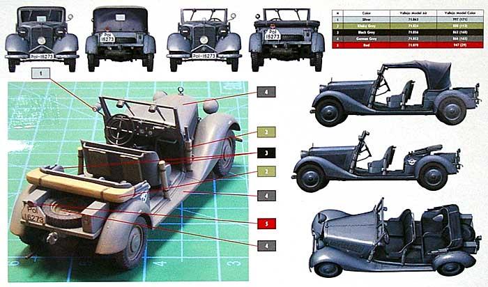 ドイツ 4輪乗用車 170V オープン座席タイプ 1936 (Polizei-Kubelsitzwagen ab 1937)プラモデル(マスターボックス1/35 ミリタリーミニチュアNo.MB35101)商品画像_1