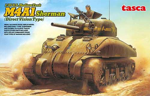 アメリカ中戦車 M4A1シャーマン 初期型 (直視バイザー型)プラモデル(アスカモデル1/35 プラスチックモデルキットNo.35-025)商品画像