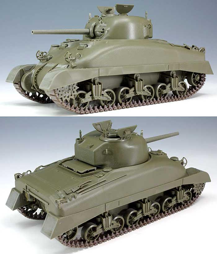 アメリカ中戦車 M4A1シャーマン 初期型 (直視バイザー型)プラモデル(アスカモデル1/35 プラスチックモデルキットNo.35-025)商品画像_3
