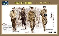 イギリス 要人4体セット チャーチル首相 + モントゴメリー将軍ほか