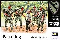 マスターボックス1/35 ミリタリーミニチュアアメリカ 第1騎兵師団 4体 + 民間女性 1体 ベトナム戦 (Patroling Vietnm War series)
