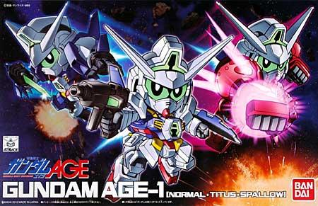 ガンダム AGE-1 (ノーマル・タイタス・スパロー)プラモデル(バンダイSDガンダム BB戦士No.369)商品画像