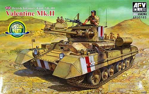 イギリス 歩兵戦車 バレンタイン Mk.2プラモデル(AFV CLUB1/35 AFV シリーズNo.AF35185)商品画像