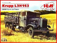 ICM1/35 ミリタリービークル・フィギュアドイツ クルップ L3H 163 6輪 カーゴトラック
