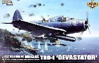 グレートウォールホビー1/48 ミリタリーエアクラフト プラモデルダグラス TBD-1 デバステーター VT-8 ミッドウェイ 1942