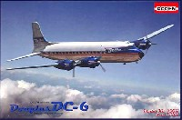 ローデン1/144 エアクラフトアメリカ ダグラス DC-6 四発旅客機 1950年代