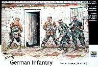 マスターボックス1/35 ミリタリーミニチュアドイツ歩兵 西部戦線 1944-45年 迷彩スモック & ポンチョ 4体