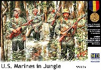 マスターボックス1/35 ミリタリーミニチュアアメリカ海兵隊 太平洋戦争 ジャングル戦 4体 (U.S. Marines in Jungle)