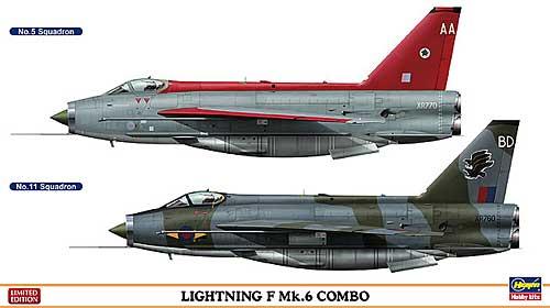 ライトニング F Mk.6 コンボ (2機セット)プラモデル(ハセガワ1/72 飛行機 限定生産No.01982)商品画像