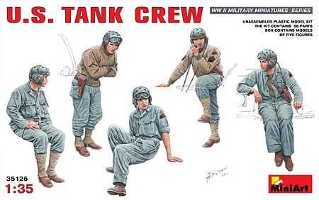 アメリカ 戦車兵プラモデル(ミニアート1/35 WW2 ミリタリーミニチュアNo.35126)商品画像