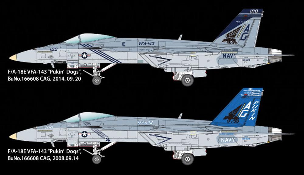 USN F/A-18E スーパーホーネット VF-143 ピューキン ドッグスプラモデル(アカデミー1/72 AircraftsNo.12547)商品画像_2