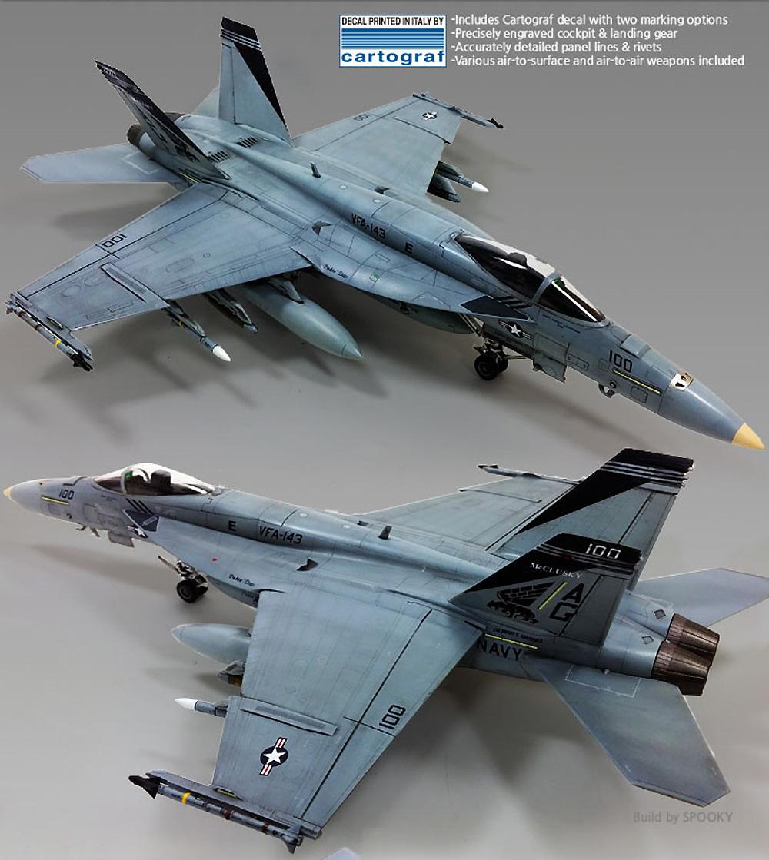 USN F/A-18E スーパーホーネット VF-143 ピューキン ドッグスプラモデル(アカデミー1/72 AircraftsNo.12547)商品画像_3