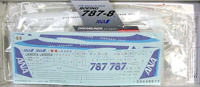 ボーイング 787-8 ドリームライナー ANAプラモデル(童友社大型旅客機シリーズNo.144-BB-NH)商品画像_1