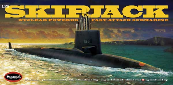 アメリカ海軍 原子力潜水艦 USS スキップジャックプラモデル(メビウスメビウス プラスチックモデル組立キットNo.1400)商品画像