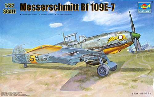 ドイツ メッサーシュミット Bf109E-7プラモデル(トランペッター1/32 エアクラフトシリーズNo.02291)商品画像