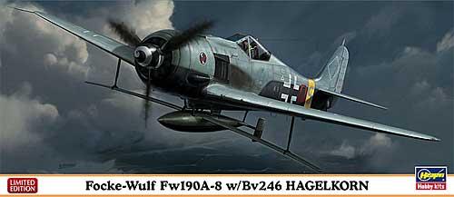 フォッケウルフ Fw190A-8 w/Bv246 ハーゲルコルンプラモデル(ハセガワ1/72 飛行機 限定生産No.01984)商品画像