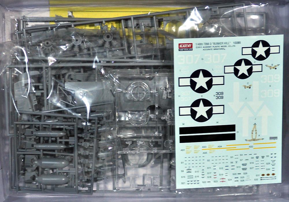 TBM-3 アベンジャー USS バンカー ヒルプラモデル(アカデミー1/48 AircraftsNo.12285)商品画像_1