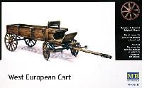 マスターボックス1/35 ミリタリーミニチュアフランス式 農業用馬車4輪 (馬無し)