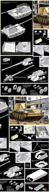 ドイツ 8.8cm Pak43 ヴァッフェントレーガー アルデルト/ラインメタル試作車プラモデル(サイバーホビー1/35 AFV シリーズ ('39~'45 シリーズ)No.6728)商品画像_2
