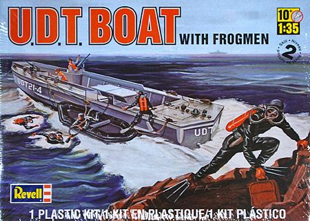 U.D.T.ボート w/フロッグマンプラモデル(レベルShips(艦船関係モデル)No.85-0313)商品画像