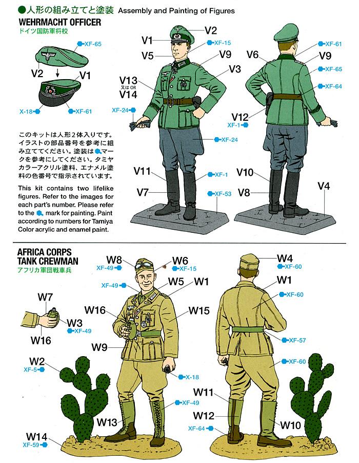 ドイツ国防軍将校・アフリカ軍団戦車兵セットプラモデル(タミヤスケール限定品No.25154)商品画像_2