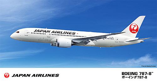 日本航空 ボーイング 787-8プラモデル(ハセガワ1/200 飛行機シリーズNo.017)商品画像