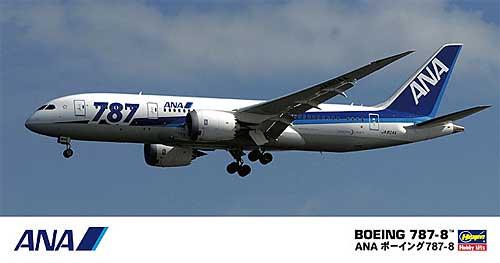 ANA ボーイング 787-8プラモデル(ハセガワ1/200 飛行機シリーズNo.016)商品画像