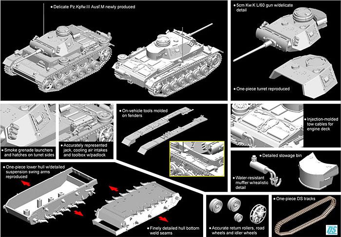 3号戦車M型 w/防水マフラープラモデル(ドラゴン1/72 ARMOR PRO (アーマープロ)No.7290)商品画像_2