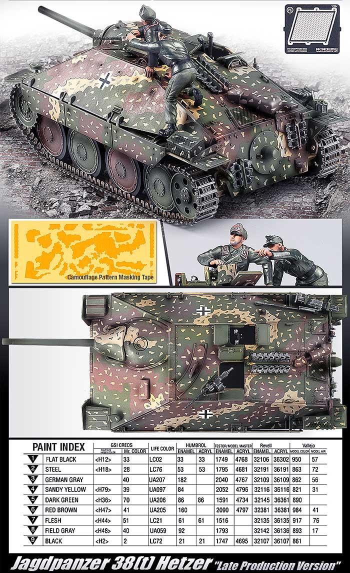 ドイツ 駆逐戦車 ヘッツァー 後期型プラモデル(アカデミー1/35 ArmorsNo.13230)商品画像_2