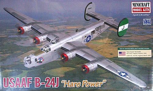アメリカ陸軍航空隊 B-24J リベレーター ハレ パワープラモデル(ミニクラフト1/72 航空機プラスチックモデルキットNo.11665)商品画像