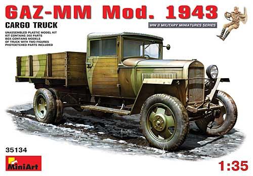 GAZ-MM Mod.1943 1.5トン カーゴトラックプラモデル(ミニアート1/35 WW2 ミリタリーミニチュアNo.35134)商品画像
