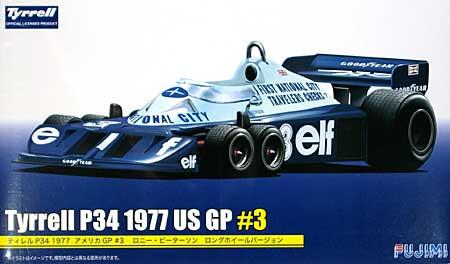ティレル P34 1977 アメリカGP #3 ロニー・ピーターソン ロングホイールバージョンプラモデル(フジミ1/20 GPシリーズNo.GP039)商品画像
