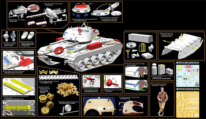 M24 チャーフィー 軽戦車 英軍仕様 (大戦型) + 戦車兵1体プラモデル(ブロンコモデル1/35 AFVモデルNo.CB35068)商品画像_2