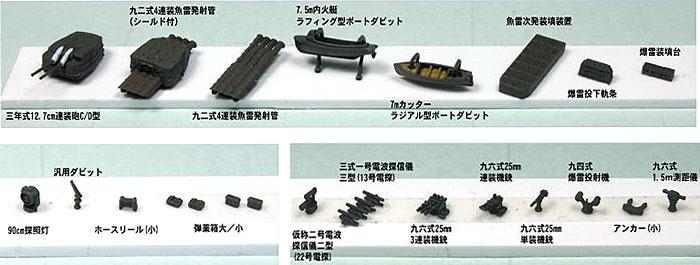 新WW2 日本海軍艦船装備セット (5)プラモデル(ピットロードスカイウェーブ NE シリーズNo.NE005)商品画像_2
