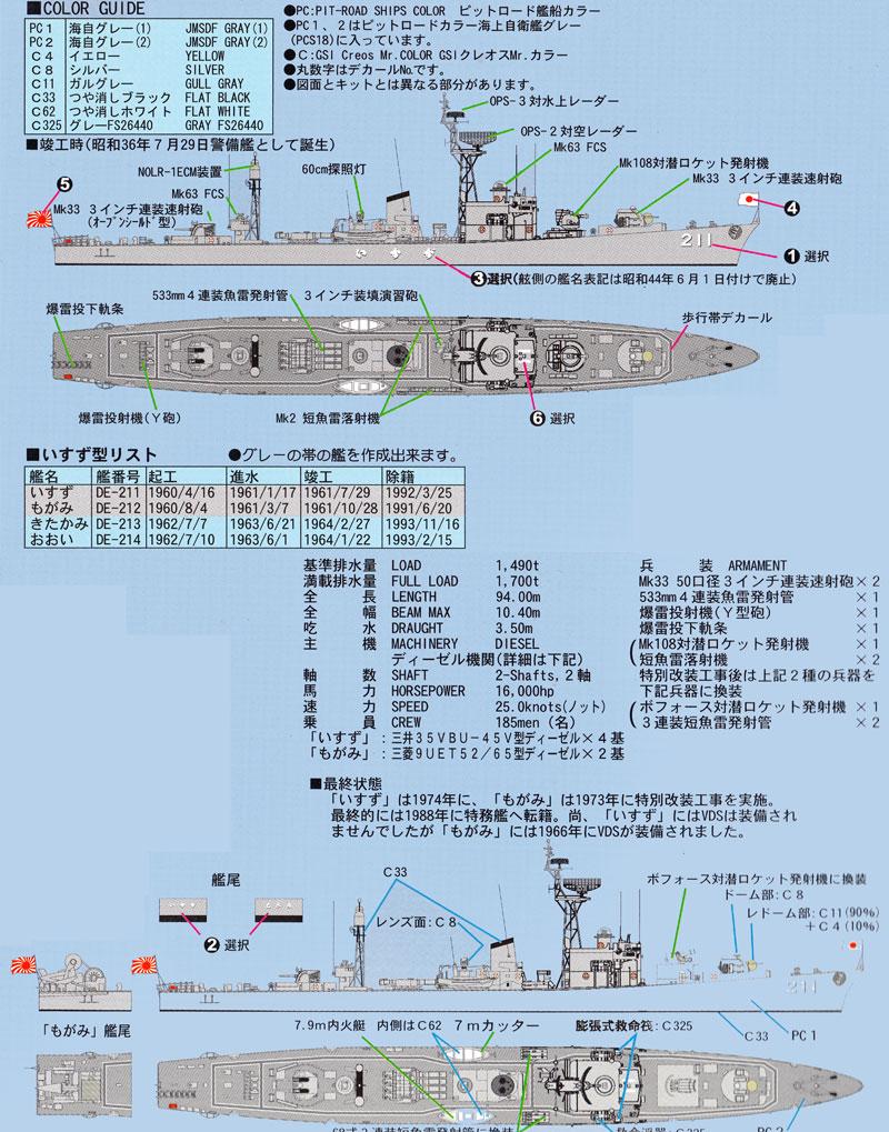 海上自衛隊 護衛艦 DE-211 いすずプラモデル(ピットロード1/700 スカイウェーブ J シリーズNo.J-056)商品画像_1