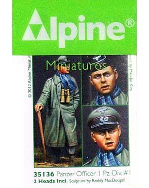 WW2 ドイツ 第1装甲師団 将校 #1レジン(アルパイン1/35 フィギュアNo.AM35136)商品画像