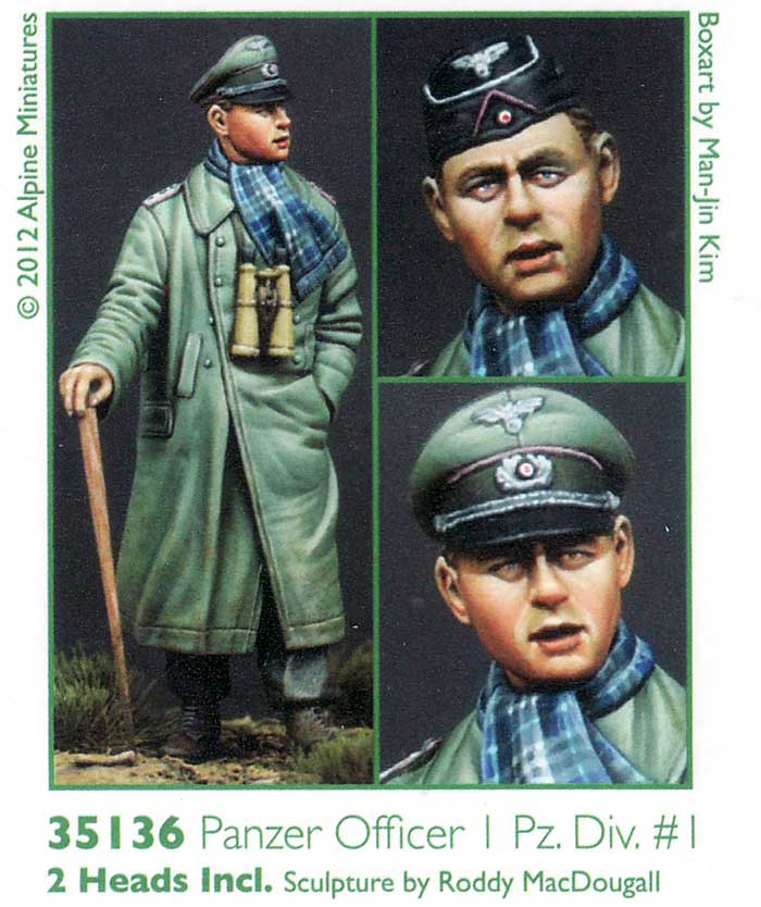 WW2 ドイツ 第1装甲師団 将校 #1レジン(アルパイン1/35 フィギュアNo.AM35136)商品画像_2