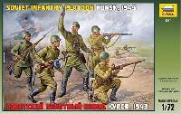 ズベズダ1/72 ミリタリーWW2 ソビエト歩兵 (クルスク 1943)