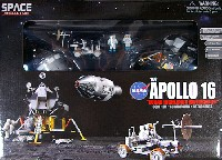 NASA アポロ16号 CMS+月着陸船+月面探査車 デカルト高地の探査