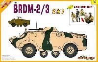 サイバーホビー1/35 AFVシリーズ (Super Value Pack)ソビエト 装甲偵察車 BRDM-2/3 w/ソビエト軍 戦車兵フィギュア