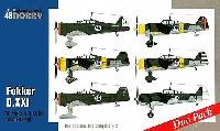 スペシャルホビー1/48 エアクラフト プラモデルフォッカー D.21 3sarja & 4sarja フィンランド上空 (2機セット)