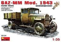 ミニアート1/35 WW2 ミリタリーミニチュアGAZ-MM Mod.1943 1.5トン カーゴトラック