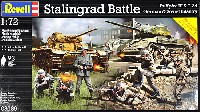 レベル1/72 ミリタリースターリングラード バトル (3号戦車&T-34 ドイツ&ソビエト歩兵)